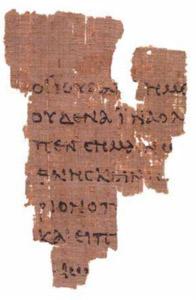 Johannine fragment.